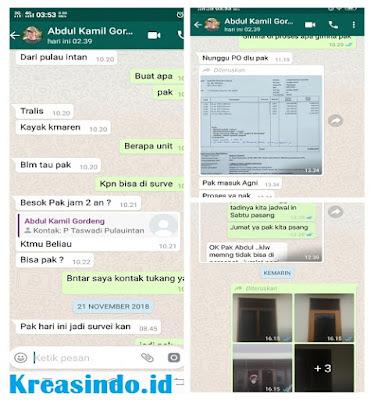 Kawat Nyamuk Magnet pesanan Bpk Abdul dari Purnama Decor di Tanah Kusir Bintaro
