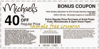 MICHAELS PRINTABLE COUPONS 40 PERCENT OFF