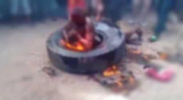 Vídeo Chocante Estuprador é queimado vivo