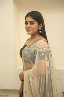 Niveda Thomas in Lovely Blue Cold Shoulder Ghagra Choli Transparent Chunni ~ Exclusive Celebrities Galleries 005