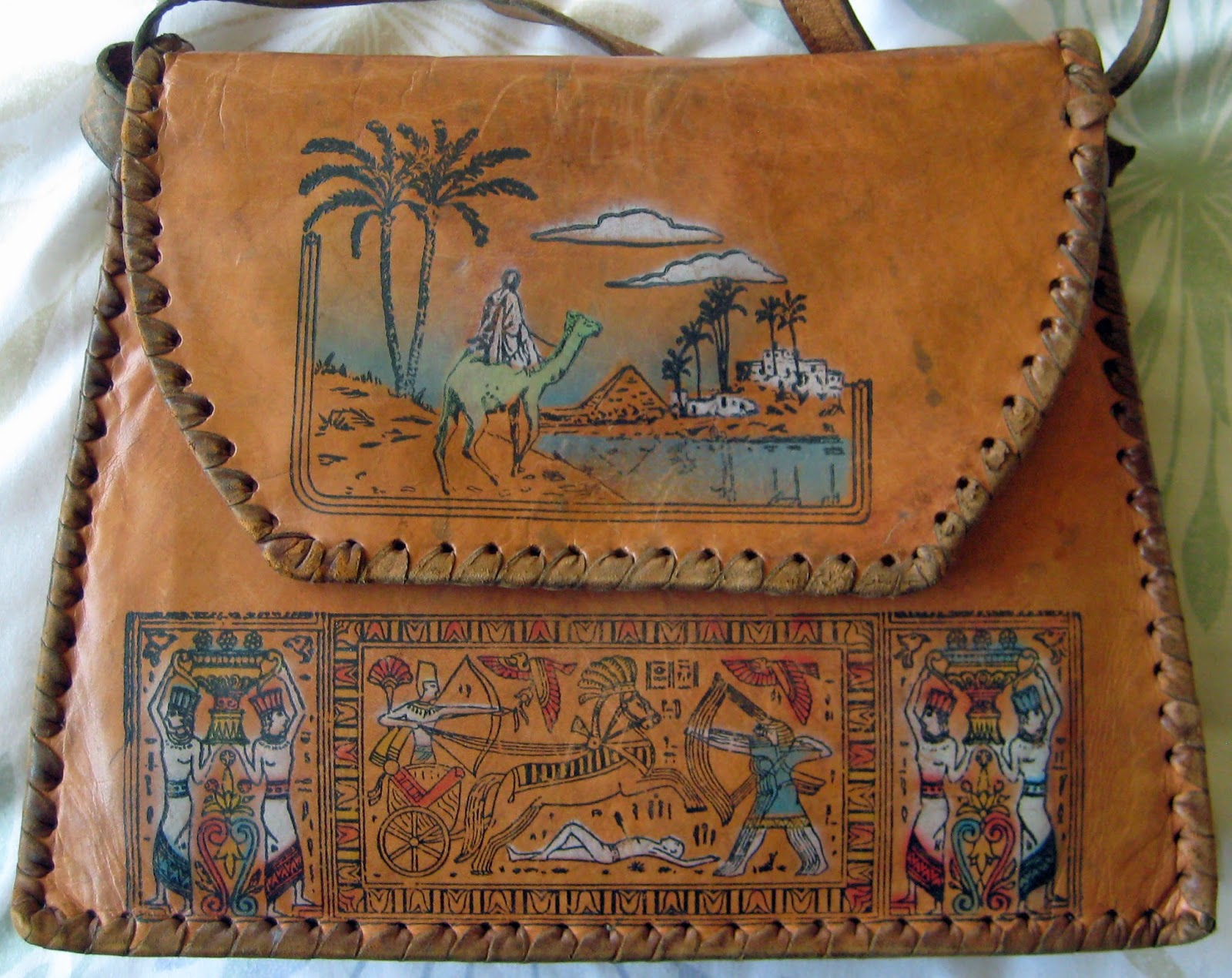 Egyptian leather handbag