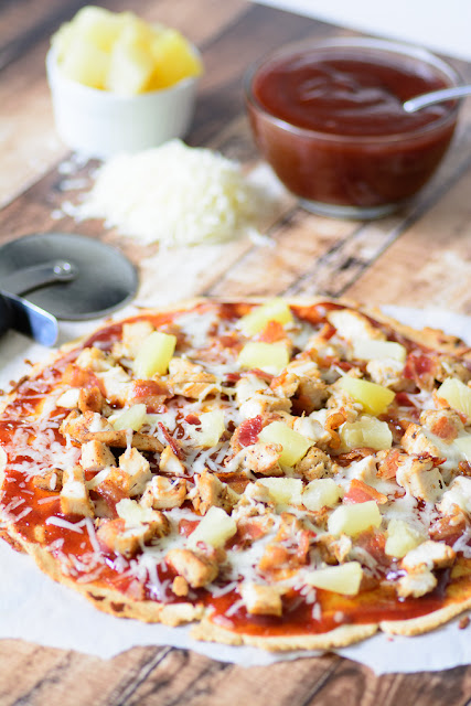 Gluten-Free-BBQ-Chicken-Bacon-Pineapple-Flatbread-Recipe-by-Almost-Supermom