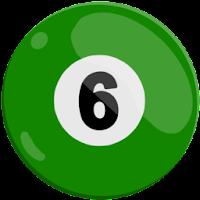 six of solids pool ball