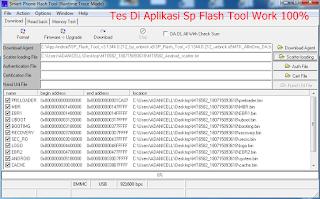 Uji Tes Flashing Di Aplikasi Sp Flash Tool Hasil Backup Tadi