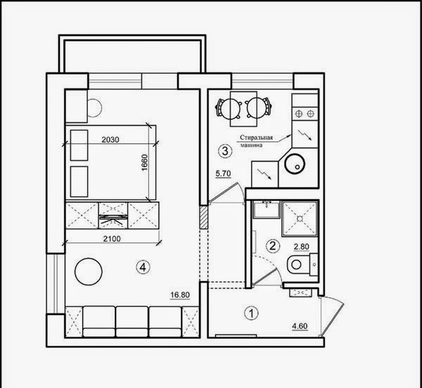 small 2 bedroom apartment plans one bedroom studio apartment design with open interior 19718
