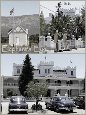 Matjiesfontein. We happened on a day when there was a rally of vintage cars
