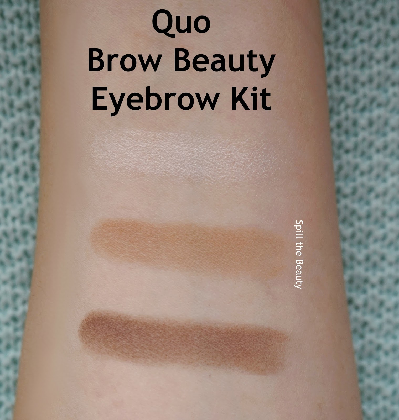 quo brow beauty eyebrow kit holiday 2016 review swatches before and after