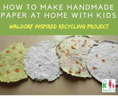 how to make handmade paper at home with kids diy recycling waldorf inspired project tutorial