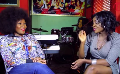 OMG! Omawunmi Goes Berserk On Set, Walks Out Of Interview Over Smoking & Drinking Question - WATCH VIDEO!