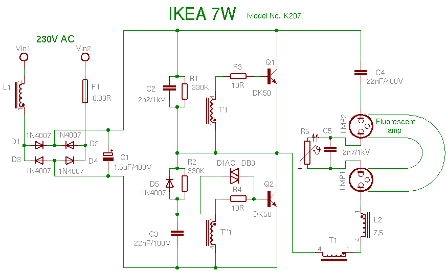 ELECTRONICS TRICKS AND TIPS: ikea 7w CFL BULB REPAIRING TIPS