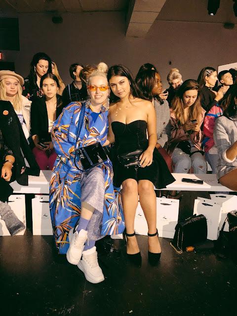 Kelly Fountain and Elena Sendona front row at New York Fashion Week