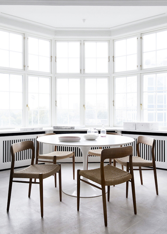 Scandinavian dining rooms to make you crave for a round table | Line Thit Klein