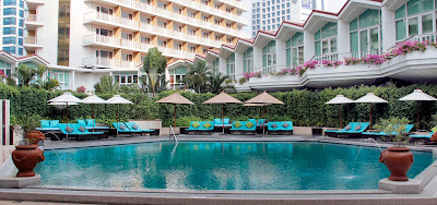 Pool area at Dusit Thani Bangkok