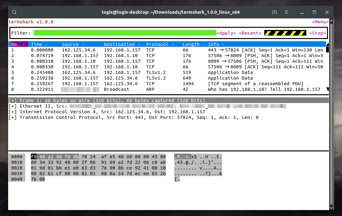Analyze Network Traffic With Termshark, A Terminal UI For