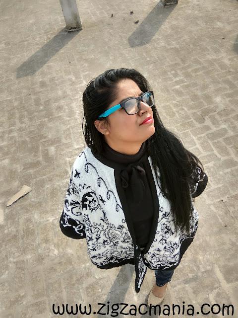 Girl in nerdy look