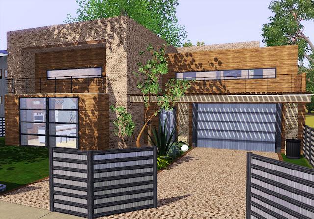 pavillon moderne en pierre sims 3