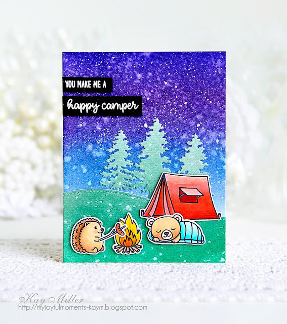 Sunny Studio Stamps: Critter Campout Friendship Cards by Kay Miller