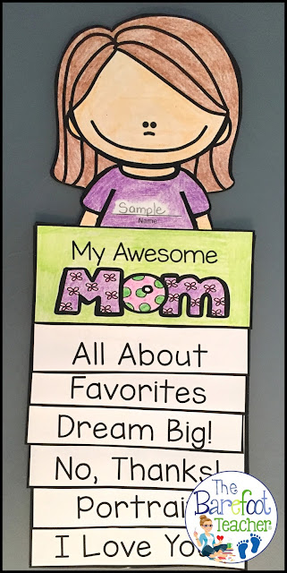 This Mother's Day Flip Book Craftivity is fun, easy, and will go right along with the other cards, gifts ideas, and crafts that you have planned for your kids to do for their mothers, aunts, or grandmas. Six tabs provide information that shows just how much your Preschool or Kindergarten littles know about and love their special someone while incorporating beginning writing practice at the same time. Simple cutting and easy assembly allows for all students to happily succeed!