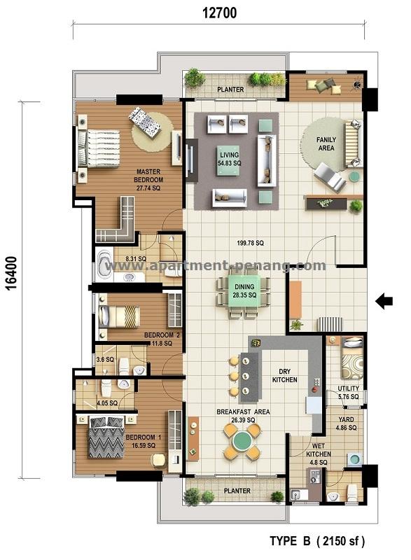The Cantonment Penang Floor Plan The Cantonment Penang
