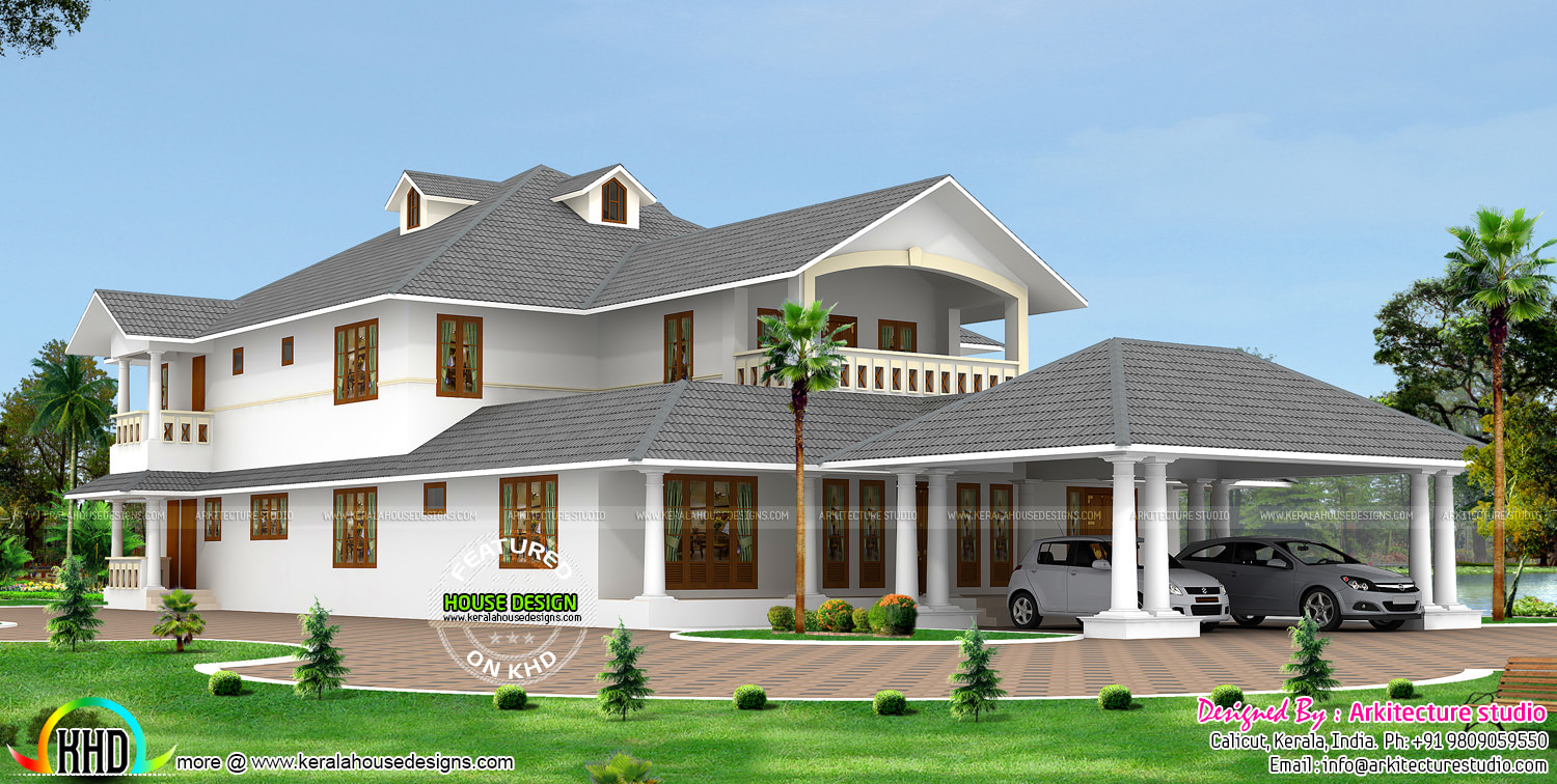 3650 sq ft traditional house architecture kerala kerala for Traditional house plans in kerala