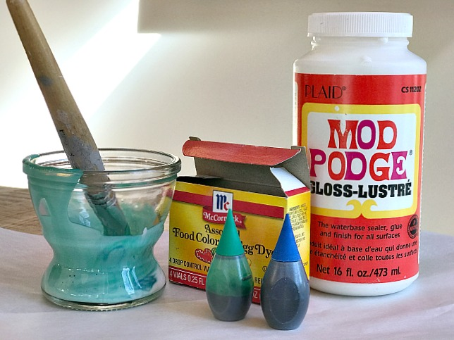 Mod Podge and food coloring