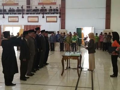 Bupati Chusnunia Lantik 7 Pejabat Pimpinan Tinggi Pratama Kabupaten Lampung Timur