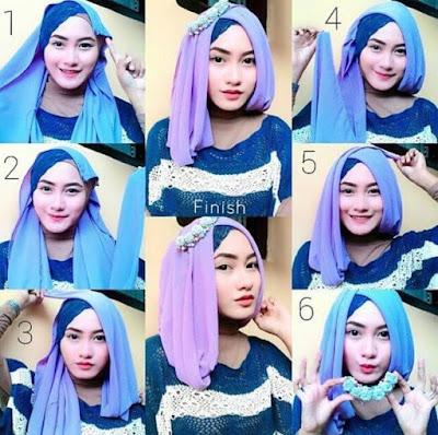 Tutorial Hijab Segitiga Gaya Arabian Modis untuk ke Pesta