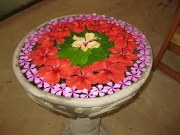 Flower Rangoli On Water