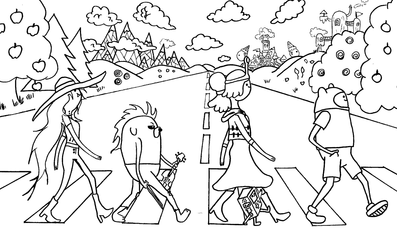 adventure time characters coloring pages - photo#2