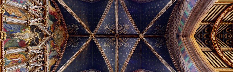 Vaulted ceiling at All Saints' Church, Margaret Street