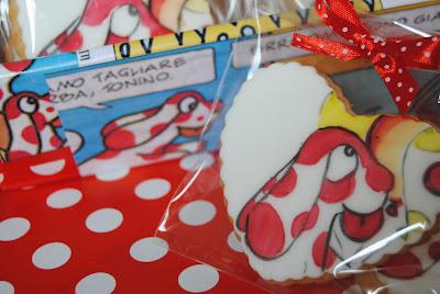 biscotti ed allestimento a tema per il compleanno di una bimba