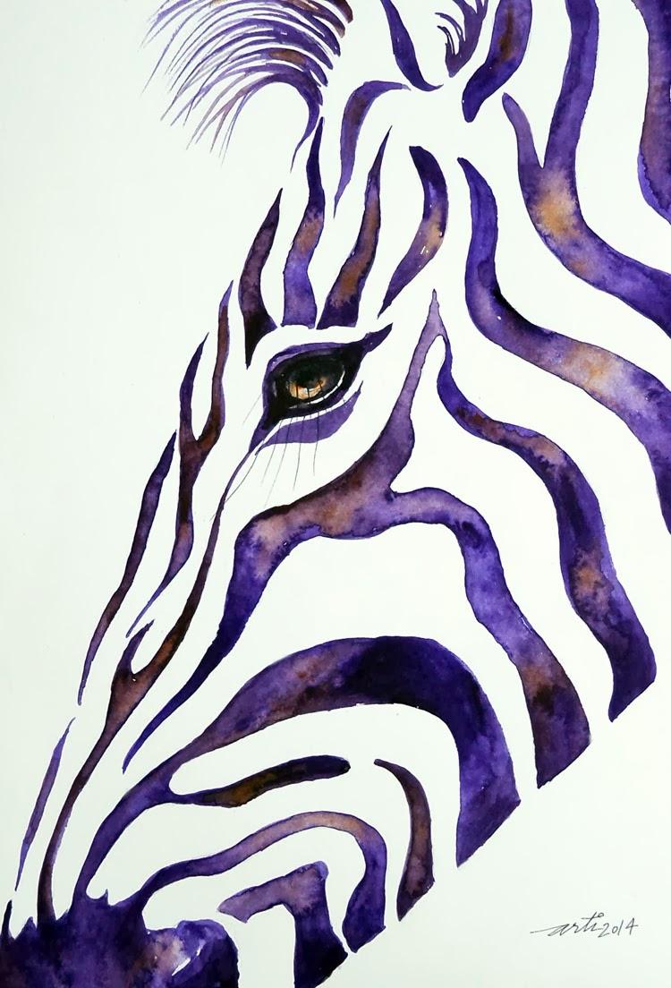 Colorful Zebra Print Nail Art Tutorial: Colorful Zebra Striped Hearts