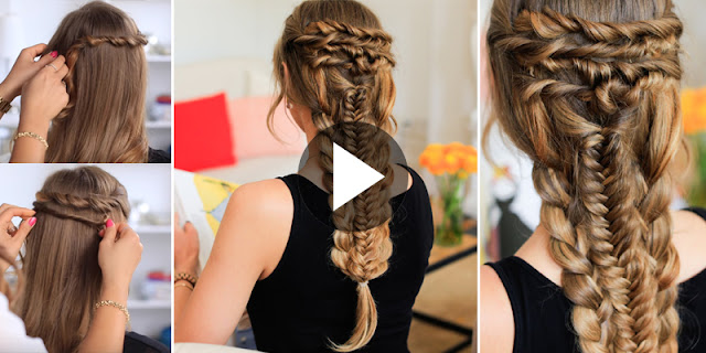 Learn - How To Make Simple Layered Braid Hairstyle, See Tutorial