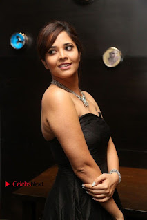 Telugu Anchor Actress Anasuya Bharadwa Stills in Strap Less Black Long Dress at Winner Pre Release Function  0020.jpg