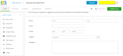 design contact form for free