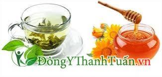 chữa viêm lợi chảy máu chân răng với trà xanh mật ong
