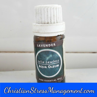 Lavender essential oil for stress management
