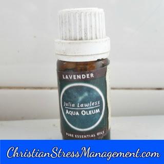 Lavender essential oil for stress management