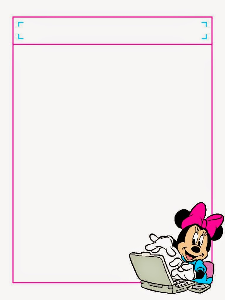 minnie in pink free printable notebook