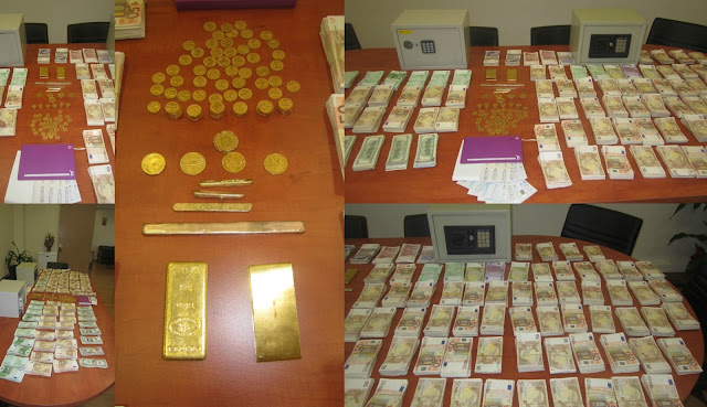 Εξαρθρώθηκε οργανωμένο κύκλωμα τοκογλυφίας - Κατασχέθηκαν 612.000 ευρώ, 66.022 δολάρια ΗΠΑ, 8.760 λίρες Αγγλίας, 100 χρυσές λίρες και μεγάλες ποσότητες χρυσού