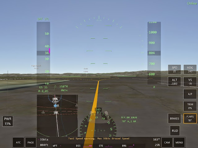Taxi Speed Warning Jeu simulation pilotage Infinite Flight