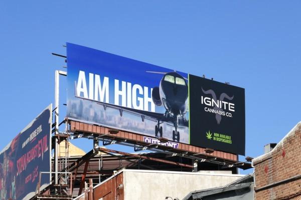 Ignite Cannabis Aim high billboard