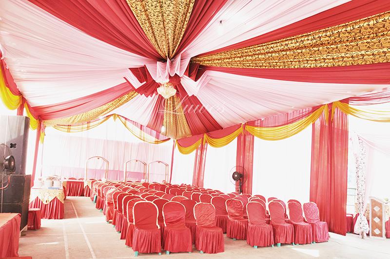 Tenda pernikahan VIP sentris