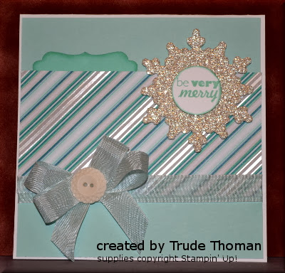 Be Very Merry, Christmas card, Stamp with Trude, Stampin' Up!, CAS, Mojo Monday