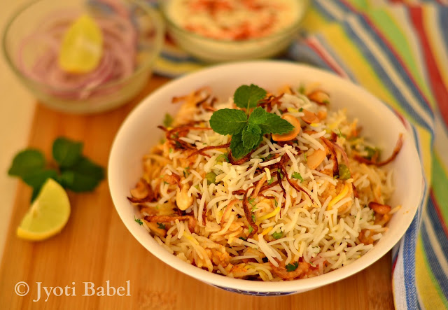 Veg Biryani is a flavourful, spicy and aromatic rice dish that is much loved in India. Here is an easy to follow veg biryani recipe that you can try
