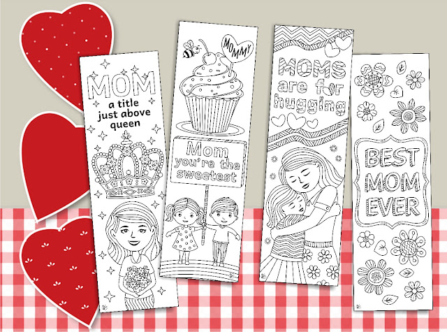 bookmarks coloring for moms