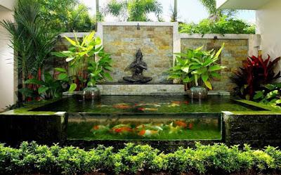 Jasa Tukang Taman lamongan gambar kolam minimalis