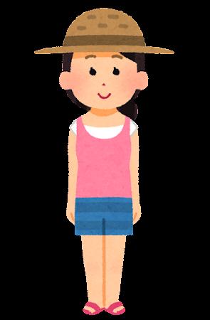 夏服を着た女性のイラスト