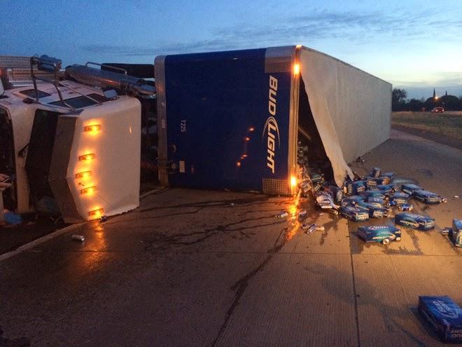 semi truck big rig accident highway 41 jensen avenue fresno