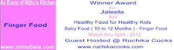 Winner of  Finger food for Babies (10 to 12 Months)